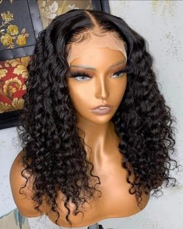 MALAYSIAN JERRY CURLS\LOOSE CURLS 3-WAY PARTING LACE WIG