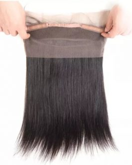 3 FULL PERUVIAN STRAIGHT BUNDLES & FREE 360 LACE CLOSURE